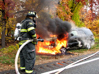 11-06-08 - Englewood Cliffs Car Fire - Palisades Interstate Parkway